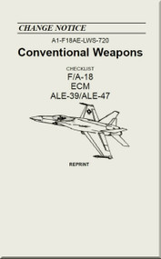Mc Donnell Douglas F / A 18  Aircraft  - Conventional Weapons - Checklist   ALE-39 / ALE-47   - A1-F18AE-LWS-720