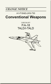 Mc Donnell Douglas F / A 18  Aircraft  - Conventional Weapons - Checklist   TALD / I-TALD - A1-F18AE-LWS-730