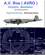 AVRO Shackleton  MR.2 Aircraft Blueprints Engineering Drawings - Download