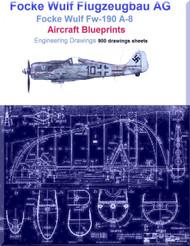 Focke Wulf Fw-190 A-8 Aircraft Blueprints -Download