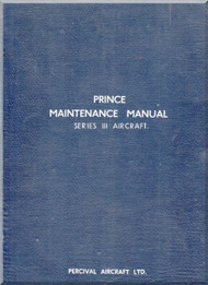 Percival Prince Series III Aircraft  Maintenance Manual -  ( English Language )