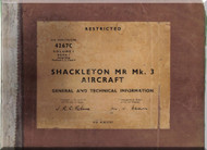 A. V. Roe Avro Shackleton Aircraft  General and Technical Information  Manual - 4267C Volume I - Book I