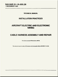 Technical Manual -  Installation Practices  -  Aircraft Electric and Electronic Wiring  - Cable Harness Assembly and Repair  - NAVAIR 01-1A-505.28