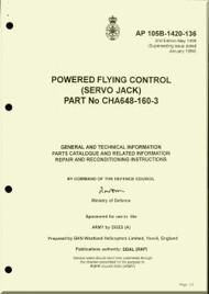 Westland Gazelle ASH Mk1  Helicopter Component  - Powered Flying Control ( Servo Jack )  Manual  - A.P. 105B-1420-136