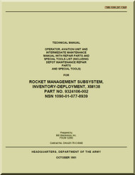 Technical Manual - Operator , Aviation Unit and Intermediate Maintenance Manual with Repair Parts and Special Tools List for Rocket Management Subsystem, Inventory- Deployment  TM 59-1090-207-13 & P