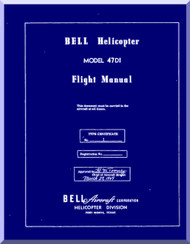 Bell Helicopter 47 D1 Flight  Manual - 1949