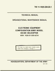 Bell Helicopter OH-58 C Organizational Maintenance  Manual - Electronic Equipment Configuration  OH-58C  TM 11-1520-228-20-1