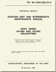 Bell Helicopter OH-58 A /C  Aviation Unit and Intermediate  Maintenance  Manual -   TM 55-1520-228-23-2