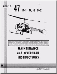Bell Helicopter 47 D1 Maintenance & Overhaul  Manual - 1969
