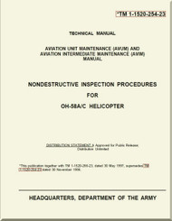 Bell Helicopter OH-58 A / C Aviation Unit Maintenance ( AVUM) and Aviation Intermediate Maintenance ( AVIM)  Manual - Nondestructive Inspection Procedures - TM 1-1520-243-23