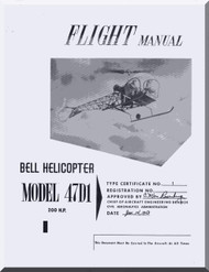 Bell Helicopter 47 D1 Flight  Manual  - 200 Hp