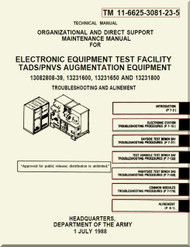 Boeing Helicopter AH-64 A Aviation  Organizational and Direct Support Maintenance  Manual - Electronic Equipment Test Facility TADS / PNVS Augmentation Equipment  - TM 11-6625-3081-23-5