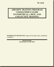 Boeing Helicopter CH-47   Aircrew Training Program Commander's Guide to Individual, Crew,  and Collective Training Manual -  TC 1-210