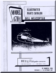 Bell Helicopter 47 H-1  illustrated parts Catalog  Manual  - 1958