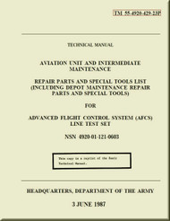 Boeing  Helicopter CH-47 D Series Aviation and Intermediate Maintenance  repair Parts and Special Tools List Manual  - 1987 - TM 55-4920-429-23P