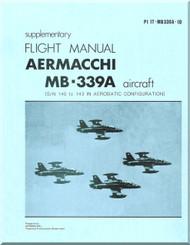 Aermacchi MB-339 Aircraft Flight Manual Supplementary  -   - PI IT -MB339A-1DE  ( English  Language )