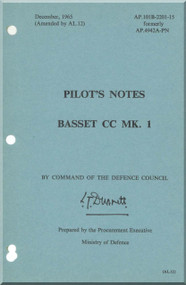 Beagle Basset CC MK.1  Aircraft Pilot\s Notes   Manual