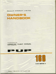 Beagle PUP 160  Aircraft Owner's  Handbook  Manual -  Approved Flight Manual -  1968