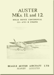 Auster MKs. 11 and 12  Aircraft Specification  Manual