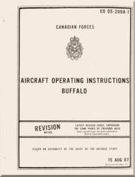 De Havilland DHC-5 Buffalo  Aircraft Operating Instructions   Manual  - EO 05-200A-1 - 1967