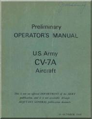 De Havilland CV-7A Buffalo  Aircraft Preliminary Operators   Manual -  1966