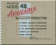 Bell Helicopter Model 48  Technical Brochure  Manual  -
