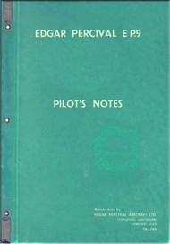 Edgar Percival  EP.9  Aircraft  Pilot's Note  Manual