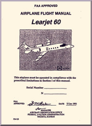 Learjet 60  Series Aircraft Airplane Flight  Manual