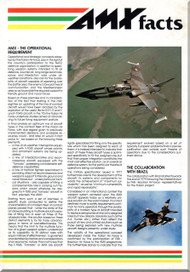 Aeritalia Aermacchi Embrair Aircraft  AMX  Technical Magazine  Brochure    Manual, ( English Language )