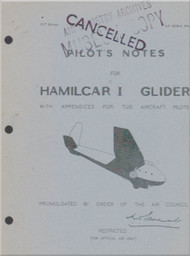 General Aircraft G.A.L. 49 Hamilcar Glider   Aircraft Pilot's Note Manual