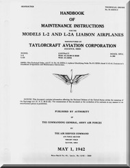 Taylorcraft   L-2 Aircraft Pilot's Flight Operating  Manual ,  01-135DA-2,   1942