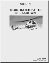 Bell Helicopter 47 J  Illustrated Parts Catalog  Manual  - 1977