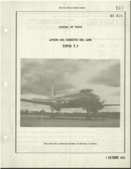 "CASA 207 "" Azor""   Aircraft  Flight Manual - ( Spanish  Language )"