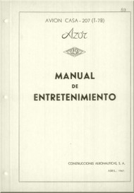 "CASA 207 "" Azor""   Aircraft  Maintenance  Manual - ( Spanish  Language )"