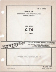 Douglas C-74 Aircraft Erection and Maintenance  Manual - 01-40NT-2 - 1947