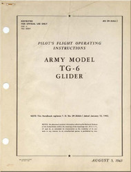 Taylorcraft  TG-6  Aircraft Pilot's Operating  instructions  Manual - 09-35AA-1 - 1943
