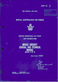 Dassault RAAF  Mirage Aircraft General and Technical Manual  - Book 2 of 4 -  AAP 7213.003-2-14B2