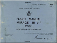 Dassault Mirage III  O-F Aircraft Flight Manual - Description and Operation  Book 1 - Plate