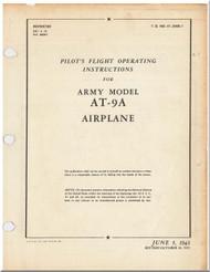 Curtiss AT-9  Aircraft Pilot's Flight Operating Instructions  Manual 01-25KB-1