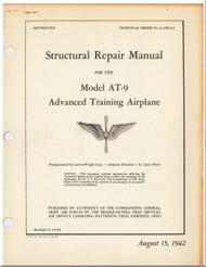 Curtiss AT-9  Aircraft Structural Repair   Manual 01-25KA-5