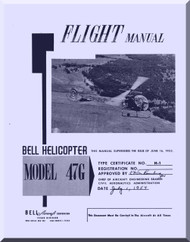 Bell Helicopter 47 G Flight  Manual  - 1954