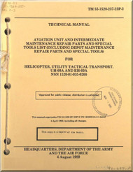 Sikorsky UH-60A EH-60A  Helicopter Aviation Unit  Intermediate Maintenance Repair Parts and Special Tool List  Manual TM 55-1520-237-23P-3