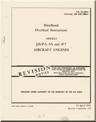 Pratt & Whitney J-48  P-5,-5A and -P-7 Aircraft Engine Overhaul Instructions   Manual 02B-10BB-3 - 1953