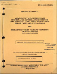 Sikorsky UH-60A EH-60A  Helicopter Aviation Unit  Intermediate Maintenance Repair Parts and Special Tool List  Manual TM 55-1520-237-23P-2