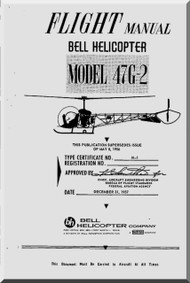 Bell Helicopter 47 G-2 Flight  Manual  - 1957