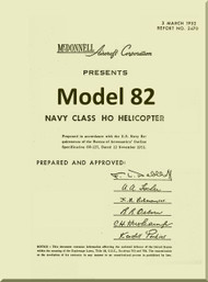 Mc Donnell   Helicopters  Model 82  Convertiplane  Technical Manual Report No. 2470 , 1952