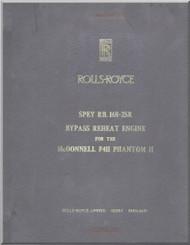Rolls Royce Spey Aircraft Engine R.R. 168-25R Technical Description  Manual -