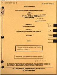 Sikorsky UH-60A EH-60A  Helicopter Aviation Unit  and Intermediate Maintenance  Appendix G Weight and Balance Appendix H Illustrated Manufactures Item List  Manual TM 55-1520-237-23-8
