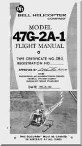 Bell Helicopter 47 G-2A-1 Flight  Manual - 1962