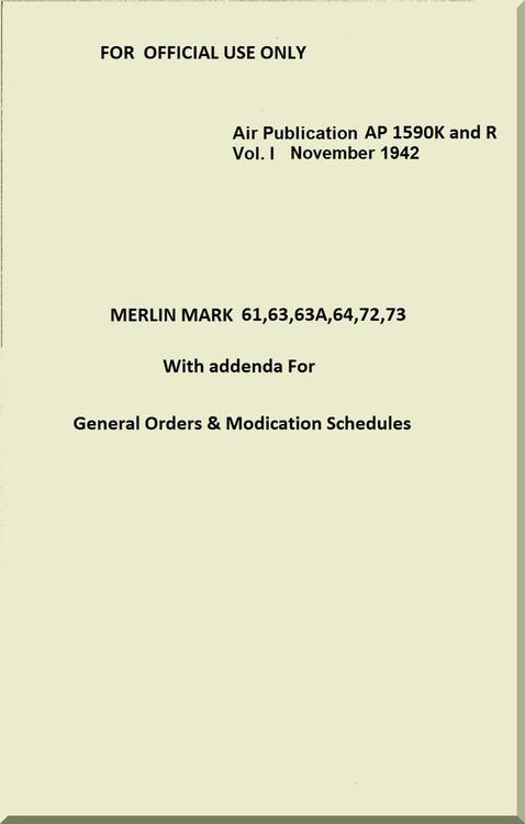 Rolls Royce Merlin Aircraft Engine Manual
